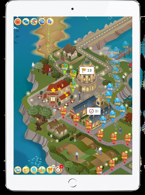 EdTech: Learning Village screen