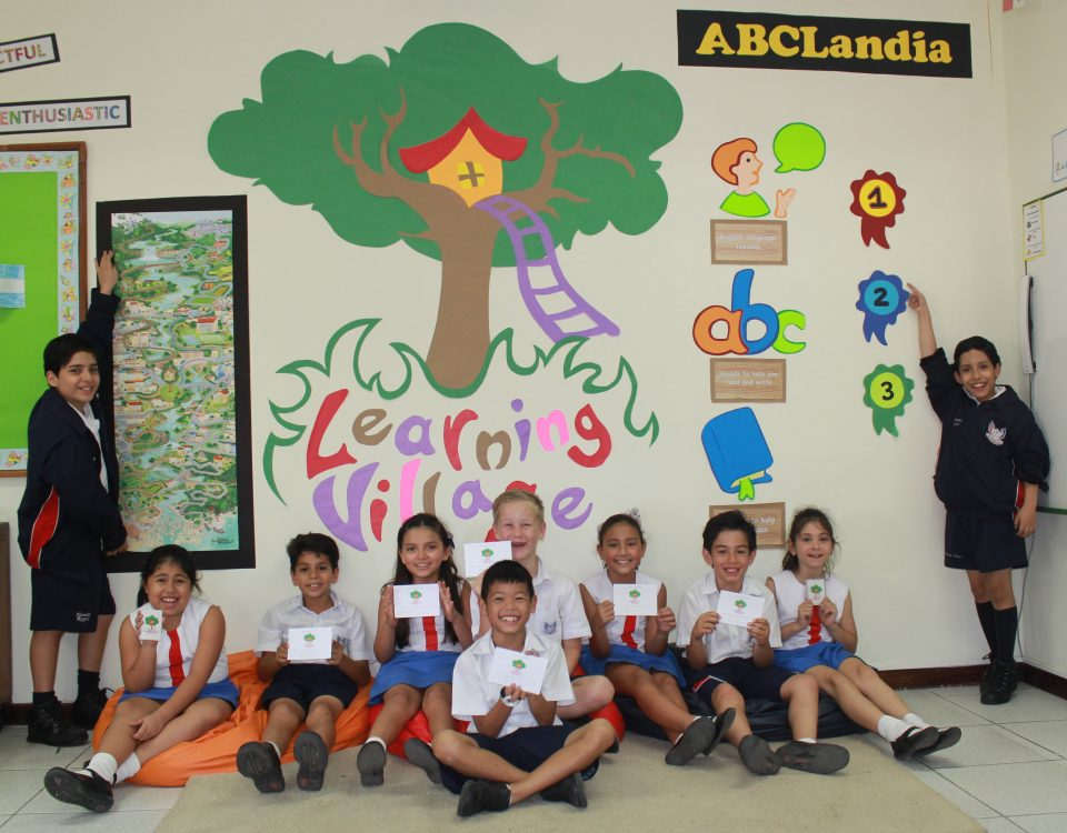 How does ABC International School use the Learning Village? 1